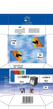 惠普C6656墨盒彩盒