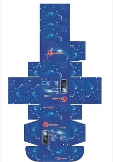 手机彩盒包装图