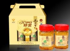 蜂蜜彩盒和瓶贴
