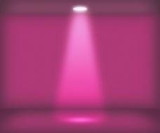 紫单聚光灯室背景