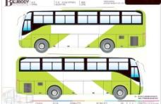 公交车车体模板