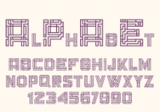 在玛雅风格的字母和数字