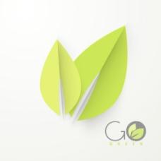 生态友好的背景与新鲜的绿色的叶子和文本使用绿色食品