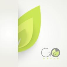 摘要自然背景与绿色的叶子和文本使用绿色食品