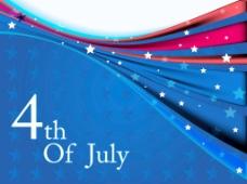 美国国旗有星星和波背景象征着第四七月独立日