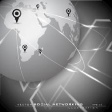 全球社交网络的背景