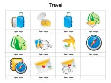 旅游ppt作图元素
