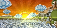 太阳升起AE素材
