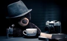 喝咖啡的熊