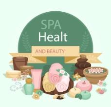 水疗保健和美容模板图片