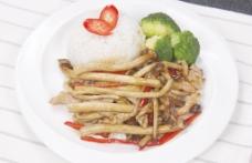 茶树菇炒肉套餐图片