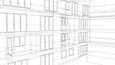 线框建筑背景