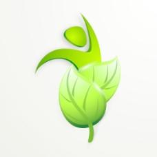 摘要自然背景与新鲜的绿色的叶子和灰色背景生态人