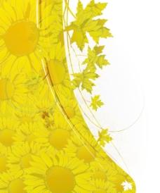 摘要秋季花卉背景矢量插画