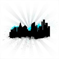 城市天际线的背景