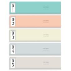在柔和的色彩的现代设计模板