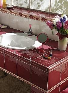 浴室卫生间瓷砖铺贴样板间铺砖