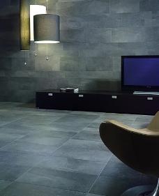 现代简约风格客厅瓷砖铺贴图