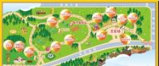 游园卡通地图图片