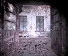 黑暗的房间里 万圣节的背景