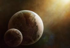 梦幻星球星空背景图片