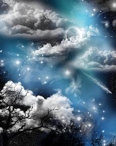 梦幻天空 影楼背景图片
