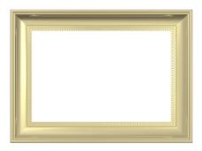 金框孤立在白色背景
