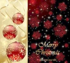 圣诞节贺卡背景矢量素材2