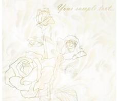 淡雅玫瑰花纹背景矢量素材1