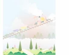 韩国可爱卡通场景矢量素材11