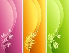 彩色植物卡片背景图