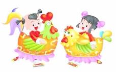 春节素材童男童女PSD源文件009
