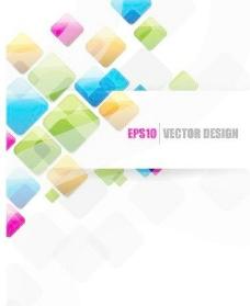 创意彩带设计背景矢量素材3