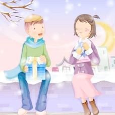 韩国2007最新情人节圣诞矢量素材插画06