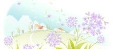 最新韩国春夏风景矢量图07