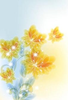 潮流缤纷花朵背景矢量素材4