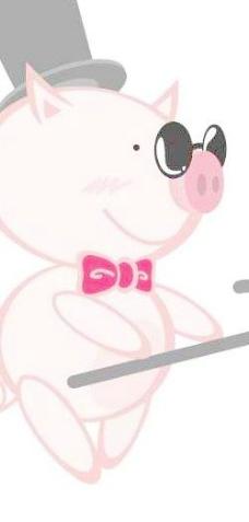 猪矢量素材-可爱小猪系列绅士矢量图06