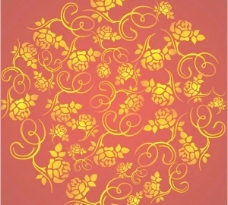 玫瑰花纹背景矢量素材