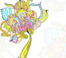 精美手绘花纹背景矢量素材2