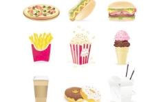卡通快餐食品矢量素材1