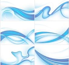 蓝色动感线条矢量素材