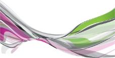 彩带背景素材矢量图