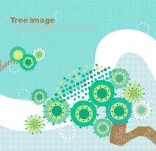 韩国卡通树时尚元素矢量素材15