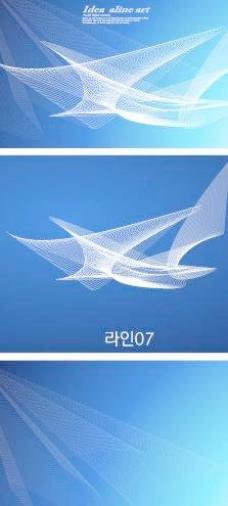 韩国幻彩背景矢量素材08