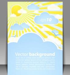 精美天气效果卡片矢量素材1