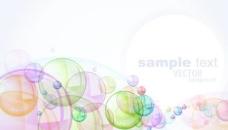 绚丽泡泡背景矢量素材3