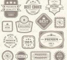 复古标贴标签矢量素材1