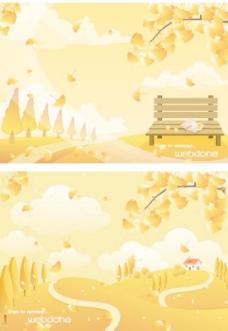 最新韩国秋天风景矢量图49