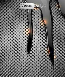 金属效果网格背景矢量素材1