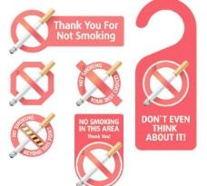 禁止吸烟图标矢量素材
